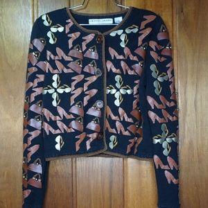 Michael Simon New York Cardigan Black Jacket M